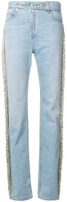 Helmut Lang bead fringe denim jeans