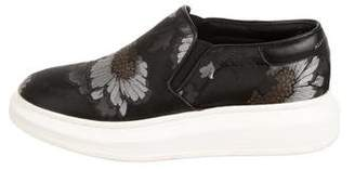 Alexander McQueen Embroidered Platform Slip-On Sneakers