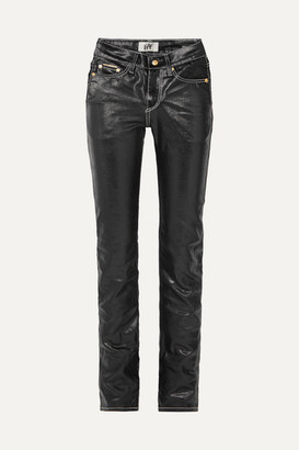 Eytys Cypress High-rise Coated Slim-leg Jeans - Black