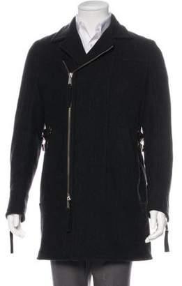 DsquaredÂ2 2004 Wool Belt-Accented Coat brown DsquaredÂ2 2004 Wool Belt-Accented Coat