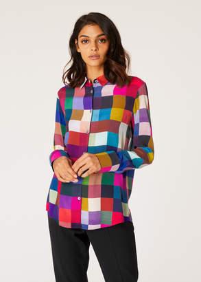 Paul Smith Women's 'Colour-Block Check' Shirt