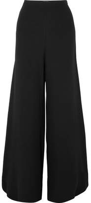 STAUD - Ramon Crepe De Chine Wide-leg Pants - Black