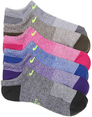 Nike Marled No Show Socks - 6 Pack - Women's