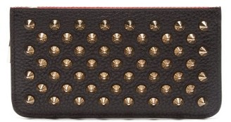 Christian Louboutin Credilou Studded Leather Cardholder - Womens - Black
