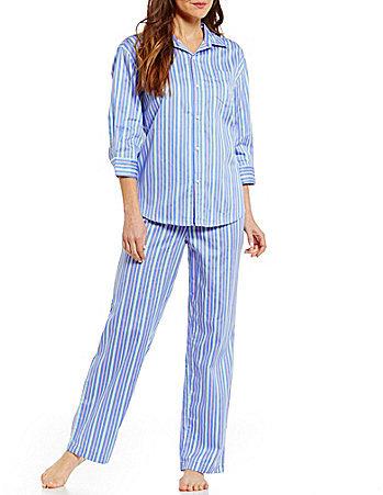 Lauren Ralph LaurenLauren Ralph Lauren Striped Sateen Pajamas