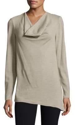 Lafayette 148 New York Asymmetrical Cowlneck Sweater