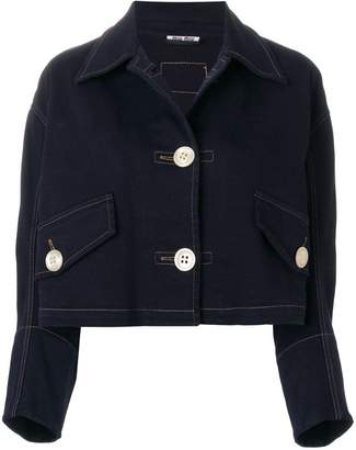 Miu Miu cropped denim jacket
