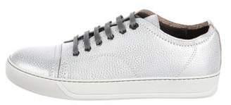 Lanvin Metallic Low-Top Sneakers w/ Tags
