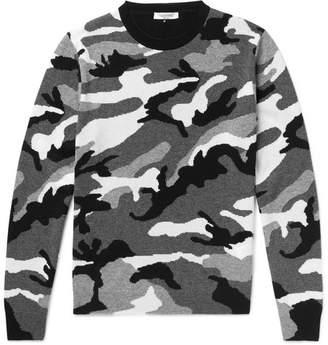 Valentino Camouflage-Print Cashmere Sweater