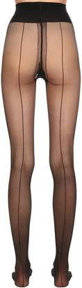 Wolford Individual 10 Den Back Seam Tights