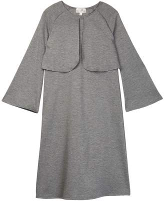 Couture Go Long Sleeve Overlay Knee Length Dress (Toddler Girls, Little Girls, & Big Girls)