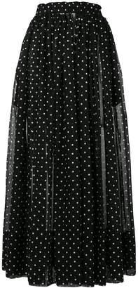 Alexandre Vauthier polka-dot maxi skirt