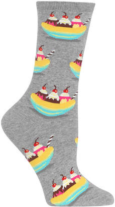 Hot Sox Women's Banana Splits Crew Socks