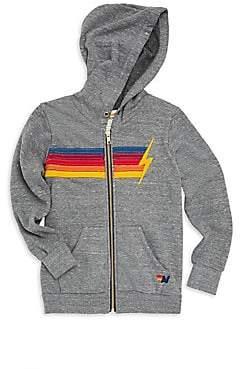 Aviator Nation Little Boy's& Boy's Rainbow Bolt Zip Hoodie