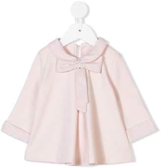 Lapin House lamé bow blouse