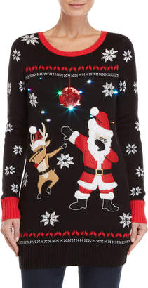 It's Our Time Dabbing Santa LED Ugly Christmas Sweater