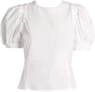 Brock Collection Takato puff-sleeved cotton top