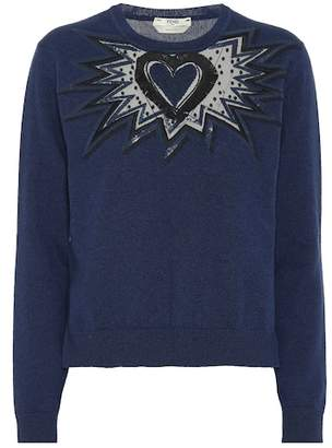 Fendi Embroidered cashmere sweater