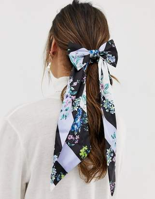 Asos Design DESIGN hair scarf with bow detail in floral print