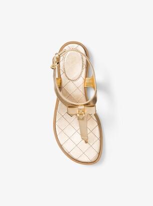MICHAEL Michael Kors Alice Metallic Leather Sandal