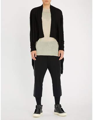 Rick Owens Asymmetric cashmere cardigan