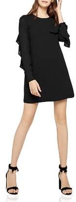 BCBGeneration Ruffled Check Chiffon Dress