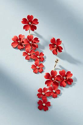 Anthropologie In Full Bloom Drop Earrings