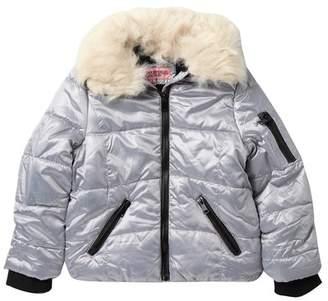 Urban Republic Puffer Jacket with Faux Fur Collar (Big Girls)