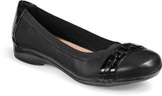 Clarks Collection By Kinzie Leather Ballet Flats