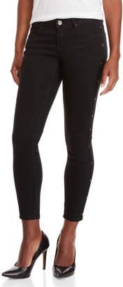 Nanette Lepore Nanette Black Hamilton Studded Skinny Jeans