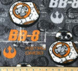 """Star Wars Camelot 1 Yard BB-8 ASTRO DROID"""" on Gray Fleece Fabric - Officially Licensed (Great for Quilting, Throws, Sewing, Craft Projects, Blankets, and More) 1 Yard x 60"""""""