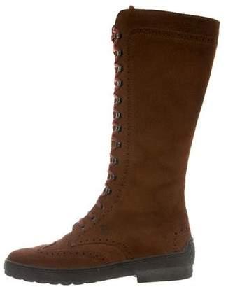 Tod's Wingtip Mid-Calf Boots