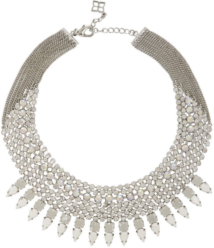 BCBGMAXAZRIA Jeweled Spike Necklace