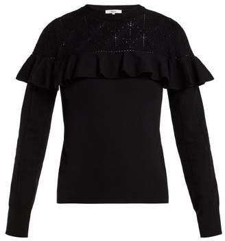 Erdem Joceline Pointelle Knit Sweater - Womens - Black