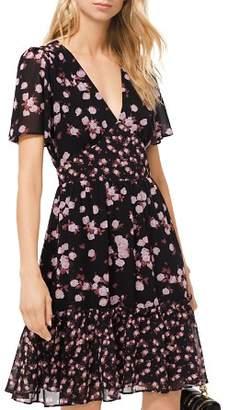 MICHAEL Michael Kors MICHAEL Rose Print Georgette Dress