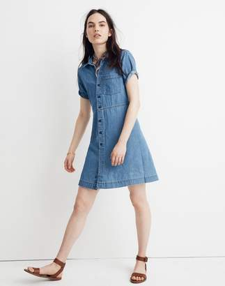Madewell Denim Waisted Shirtdress in Penview Wash