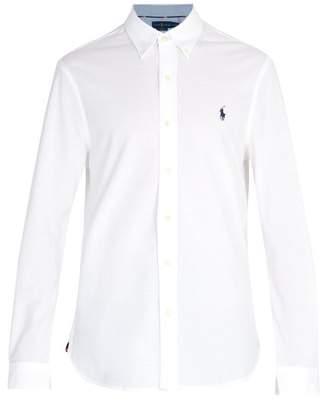 Polo Ralph Lauren Logo Embroidered Cotton Pique Shirt - Mens - White