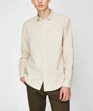 Arvust Grover Long Sleeve Linen Shirt Coffee