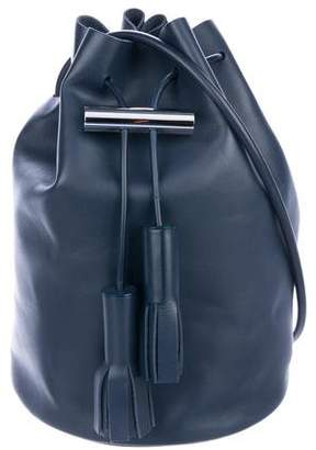 Building Block Leather Bucket Bag