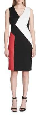 Calvin Klein Colorblock Panel Sheath Dress