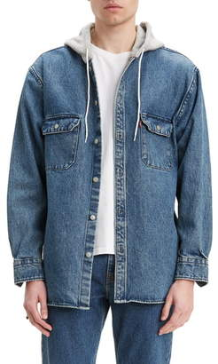 Levi's Jackson Regular Fit Hooded Denim Overshirt