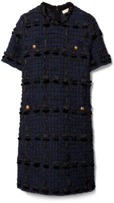 Ribbon Tweed Sweater Dress