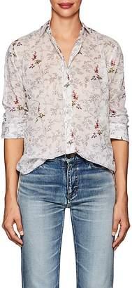 Saint Laurent Women's Floral Cotton Voile Shirt