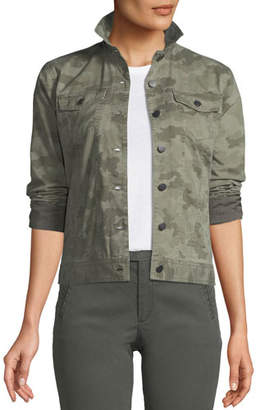 ATM Anthony Thomas Melillo Button-Down Camo-Print Stretch-Cotton Denim Jacket