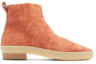 Fear Of God Santa Fe Zipped Suede Chelsea Boots - Mens - Red
