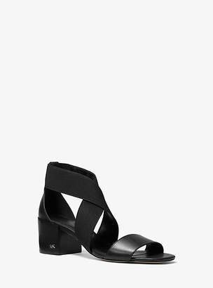 Michael Kors Meadow Elastic And Leather Sandal