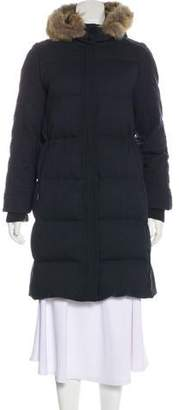 Tory Burch Fur-Trimmed Wool Coat