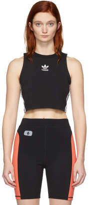 adidas Black Cropped Tank Top