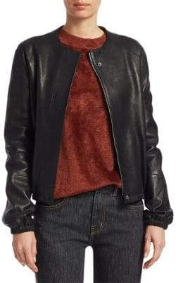 Elizabeth and James Tinley Leather Bomber Jacket