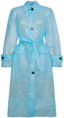 Calvin Klein Plastic Belted trench Coat